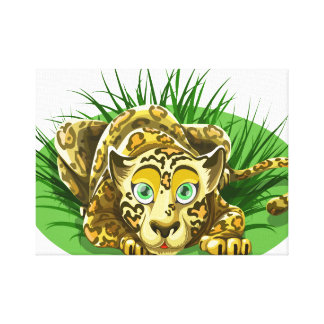 Cute leopard canvas
