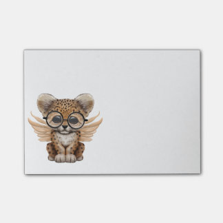 Cute Leopard Cub Fairy Wearing Glasses Post-it® Notes