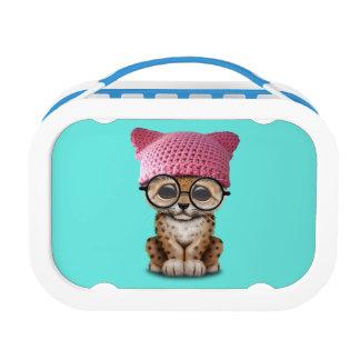 Cute Leopard Cub Wearing Pussy Hat Lunch Box