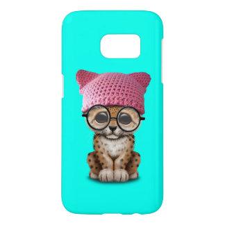 Cute Leopard Cub Wearing Pussy Hat Samsung Galaxy S7 Case