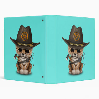 Cute Leopard Cub Zombie Hunter Binder
