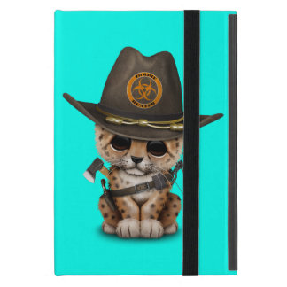 Cute Leopard Cub Zombie Hunter iPad Mini Case