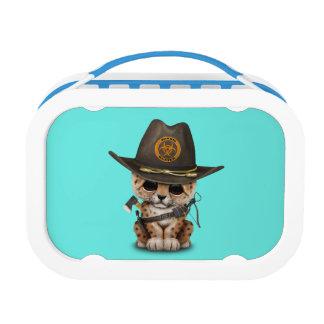 Cute Leopard Cub Zombie Hunter Lunch Box