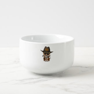 Cute Leopard Cub Zombie Hunter Soup Mug