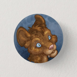 Cute Leopard Face 1 Inch Round Button