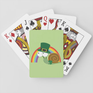 Cute Leprechaun Snail Playing Cards