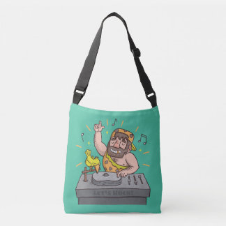 Cute Lets Rock Stone Age Caveman Deejay Tote