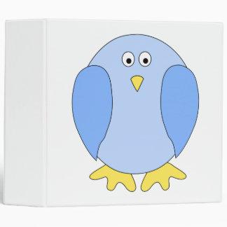 Cute Light Blue Bird Cartoon. Binders