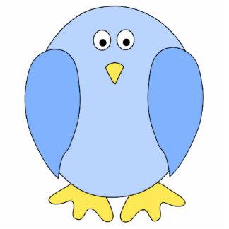 Cute Light Blue Bird Cartoon. Photo Cutout