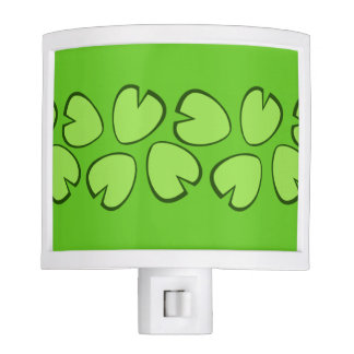 Cute Light Green Lily Pad Leaves Design Night Lites