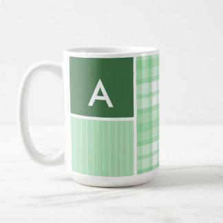 Cute Light Green Plaid Coffee Mug
