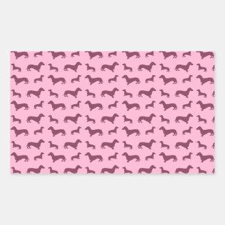 Cute light pink dachshund pattern stickers
