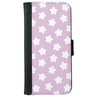 Cute Light Purple Star iPhone 6 Wallet Case