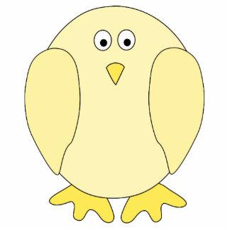 Cute Light Yellow Bird. Cartoon Chick. Photo Cut Outs