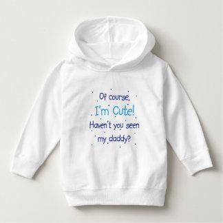 Cute Like Daddy Blue Hoodie