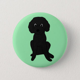 Cute Lil' Black Poodle Mix :3 2 Inch Round Button