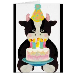 cute lil' cow birthday card