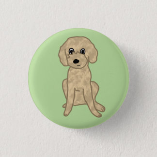 Cute Lil' Fuzzy Pup :3 1 Inch Round Button