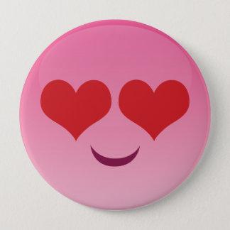 Cute lil Heart Eyes emoji 4 Inch Round Button