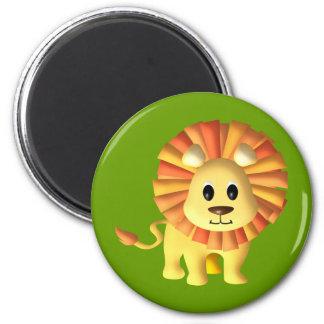Cute Lil Lion 2 Inch Round Magnet