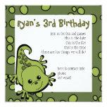 Cute Lil' Lizard 5.25x5.25 Square Paper Invitation Card