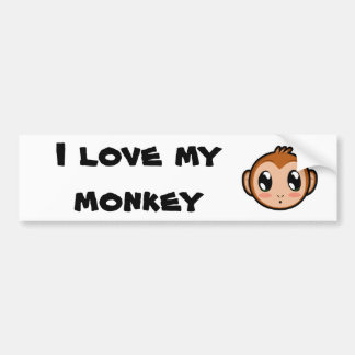 Cute Lil' Monkey Bumper Sticker