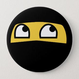 Cute Lil' Ninja Emoji 4 Inch Round Button