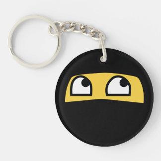 Cute lil' ninja emoji keychain