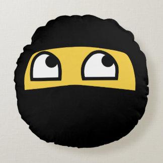 Cute Lil' Ninja emoji Round Pillow