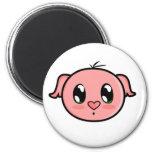 Cute Lil'  Pink Piggy Magnet