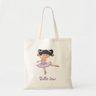 Cute Lilac Ballerina 1 Ballet Star Budget Tote Bag