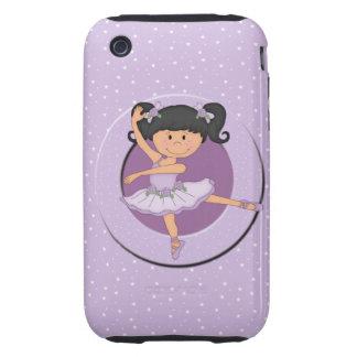 Cute Lilac Ballerina 1 Tough iPhone 3 Cover
