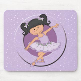 Cute lilac Ballerina 2 Ballet Star Mouse Pad