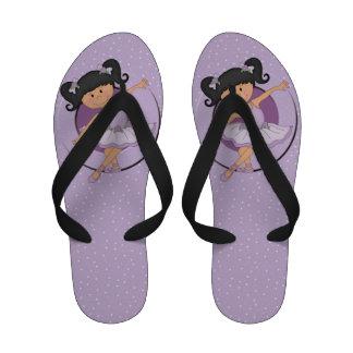 Cute Lilac Ballerina 2 Flip-Flops