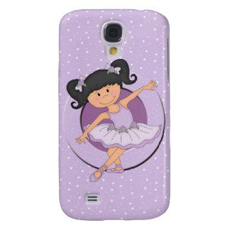 Cute Lilac Ballerina pose Samsung Galaxy S4 Case