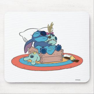 Cute Lilo & Stitch Stitch Sleeping Mouse Pad