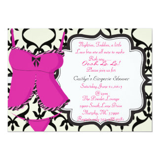 Cute Lingerie Shower Bridal Invitation