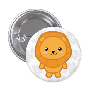 Cute Lion 1 Inch Round Button