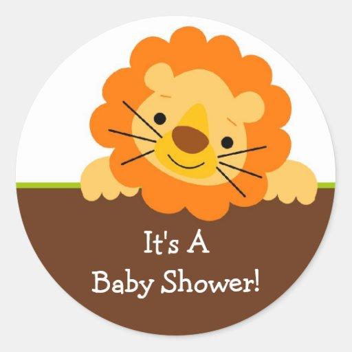 cute lion baby shower sticker zazzle