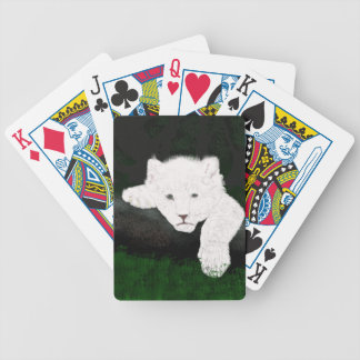 cute lion bicycle playing cards