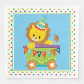 Cute Lion | Circus Train | Circus Theme Disposable Napkin