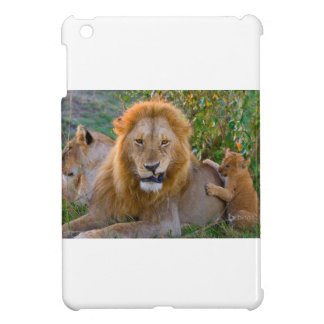 Cute Lion Cub Playing With Dad, Kenya iPad Mini Cases