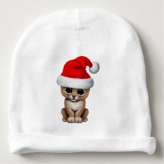 Cute Lion Cub Wearing a Santa Hat Baby Beanie