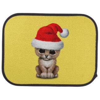 Cute Lion Cub Wearing a Santa Hat Car Mat