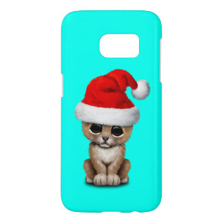 Cute Lion Cub Wearing a Santa Hat Samsung Galaxy S7 Case