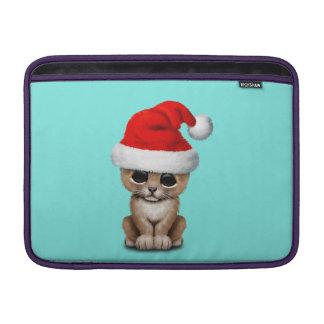 Cute Lion Cub Wearing a Santa Hat Sleeve For MacBook Air