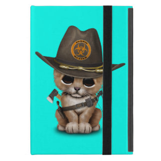 Cute Lion Cub Zombie Hunter Case For iPad Mini
