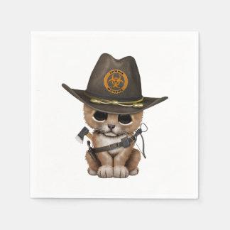 Cute Lion Cub Zombie Hunter Disposable Napkin
