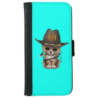 Cute Lion Cub Zombie Hunter iPhone 6 Wallet Case
