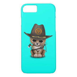 Cute Lion Cub Zombie Hunter iPhone 8/7 Case